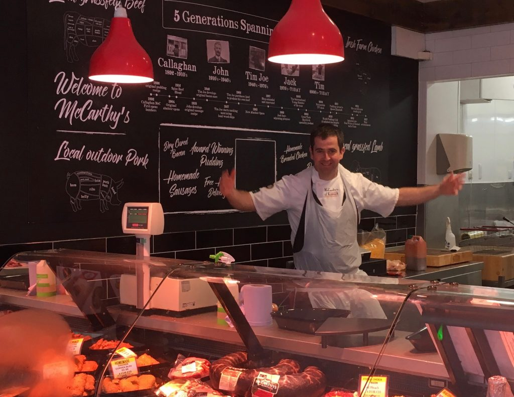 tim in the newly refurbished shop in kanturk